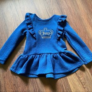Juicy Couture Blue Long Sleeve Dress 3T